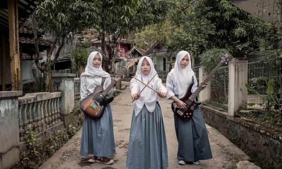 Teenage band Voice of Baceprot - 'noise', in the girls' native Sundanese
