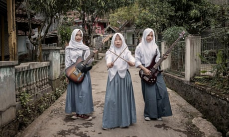 The schoolgirl thrash metal band smashing stereotypes in Indonesia
