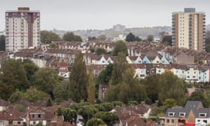 A high rise block of flats originally built for council tenants stand on a housing estate on October 4, 2017 in Bristol, England.