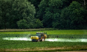 About 9.4m tonnes of glyphosate has been sprayed on crops since 1974.