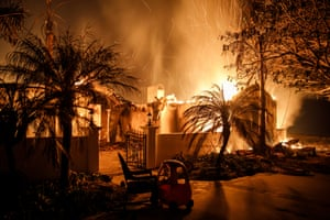 A home in Goleta destroyed by the fire.