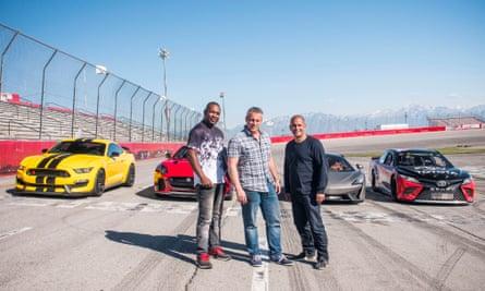 Rory Reid, Matt LeBlanc and Chris Harris in Utah.
