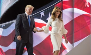 Republican National Convention, Cleveland, USA - 18 Jul 2016Mandatory Credit: Photo by Greg E. Mathieson Sr./REX/Shutterstock (5772368x) Melania Trump and Donald Trump Republican National Convention, Cleveland, USA - 18 Jul 2016 Melania Trump and Donald Trump the 2016 Republican National Convention in Cleveland, Ohio after Mrs. Trump delivered her speech to the convention.