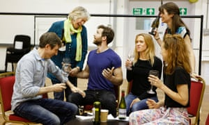 The cast of the West End version of Sideways in rehearsal in London.