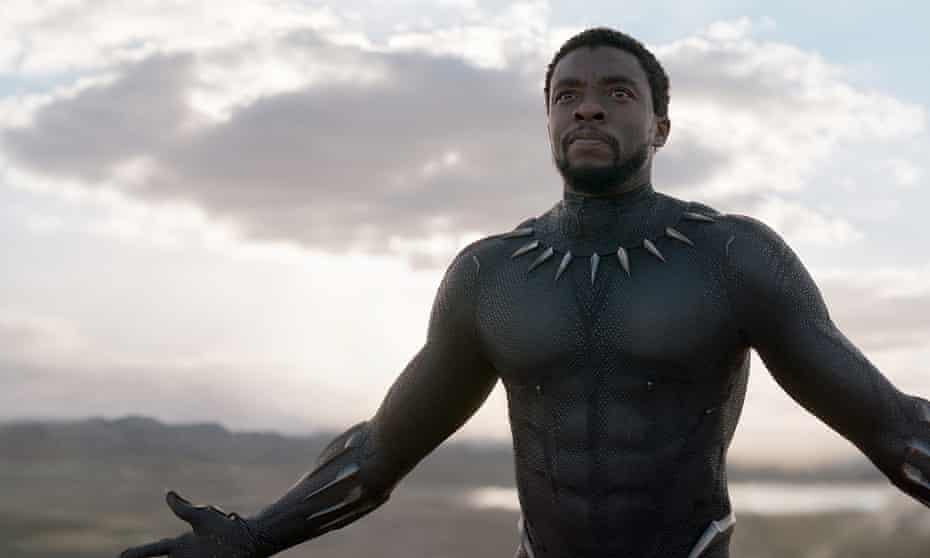 Chadwick Boseman as T'Challa in Black Panther.