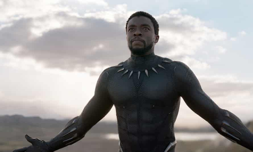 Chadwick Boseman as T'Challa in Black Panther.