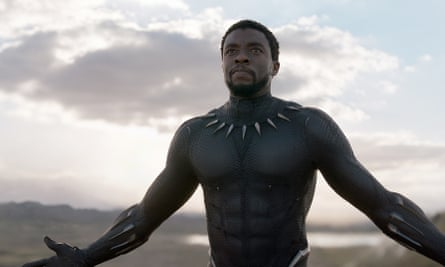 Chadwick Boseman (T'Challa) in Black Panther