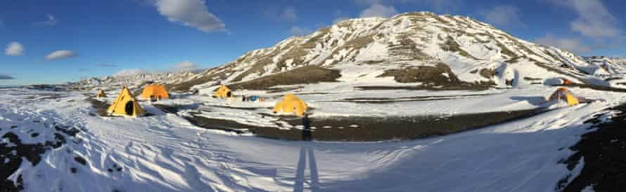 The team's campsite in Antarctica