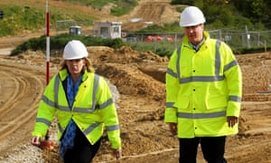 Prime minister David Cameron, right, with climate change and energy secretary Amber Rudd.