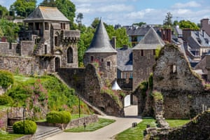 Fortified town of Fougeres Brittany France