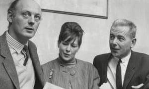 Harold Pendleton, right, and Lord and Lady Montagu of Beaulieu, with whom he collaborated in staging outdoor jazz.
