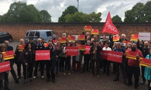 Labour supporters campaigning for Mike Williamson in Derby North