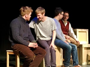 Greg Russell, David Eagle, Michael Hughes and Matthew Crampton in rehearsals for The Transports