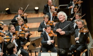 Liverpudlian Sir Simon Rattle conducts the Berlin Philharmonic.