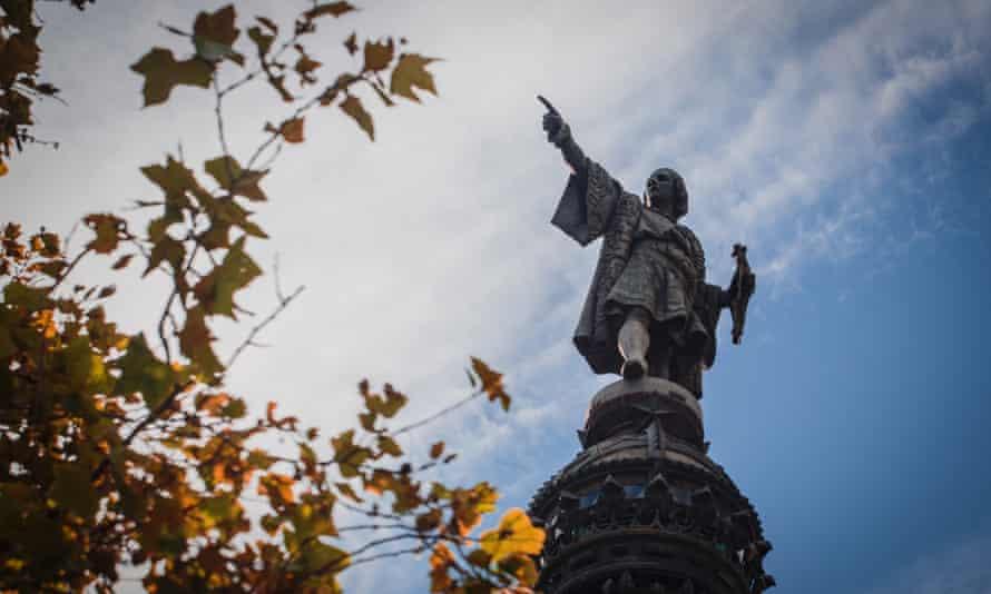 Barcelona's Columbus statue.