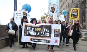 The fight for feminism must continue: Sadiq Khan in a 'Walk in Her Shoes' march last year.