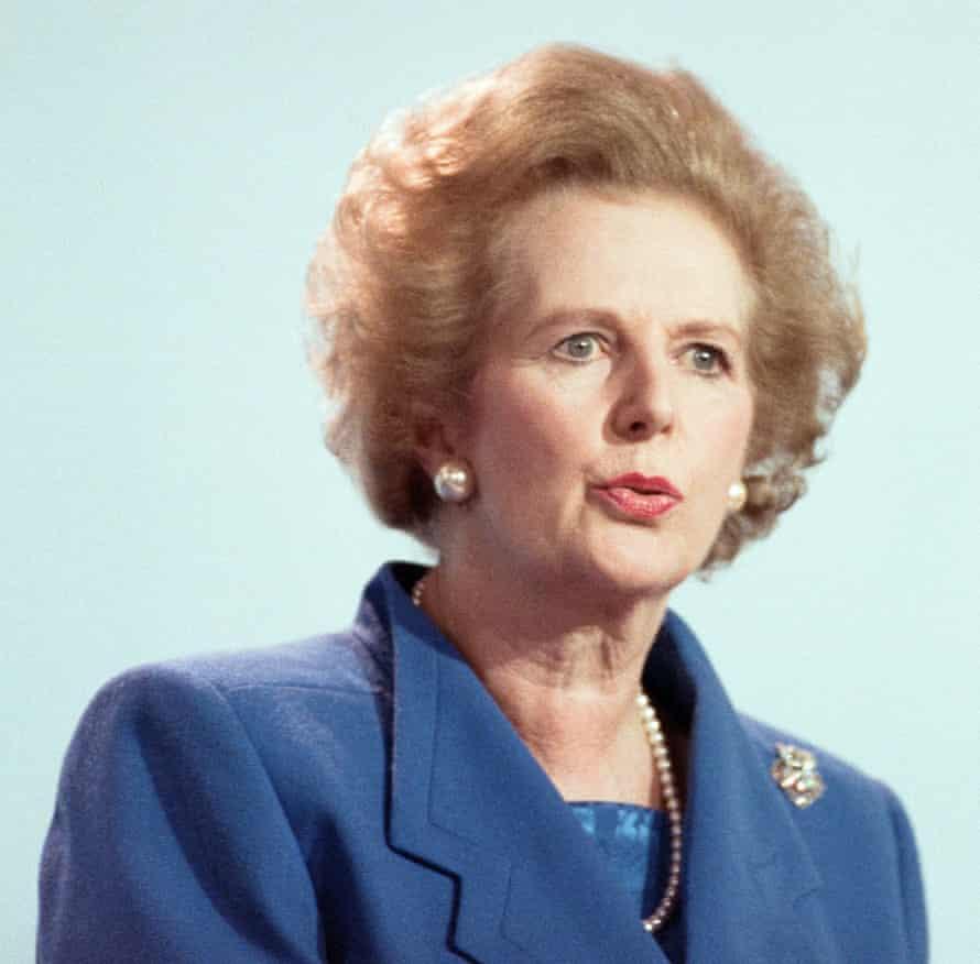 Thatcher in a blue power jacket