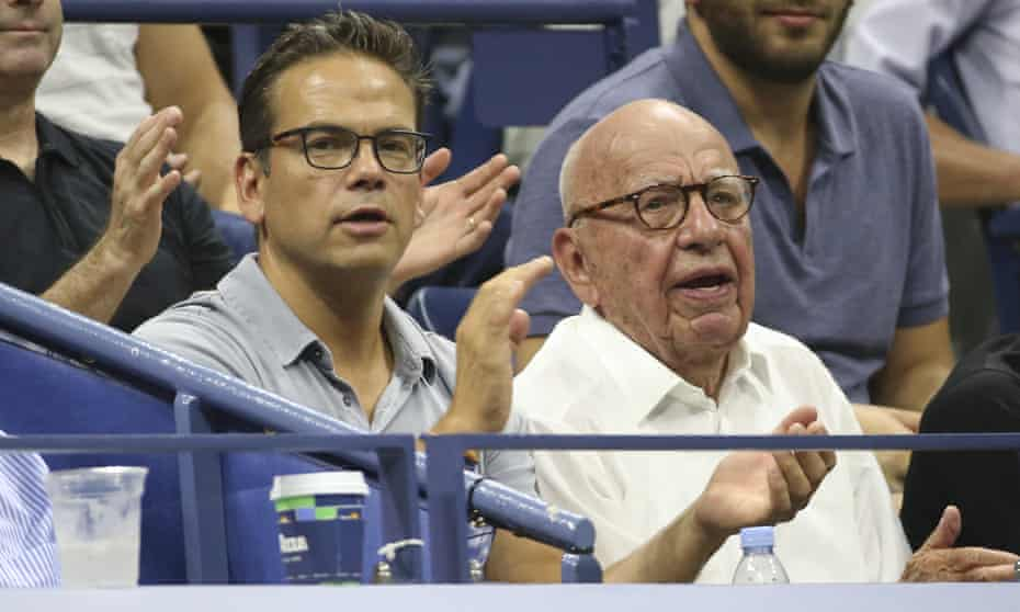 Lachlan and Rupert Murdoch at the US Open earlier this year.