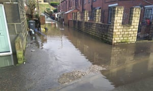 That same road flooded.