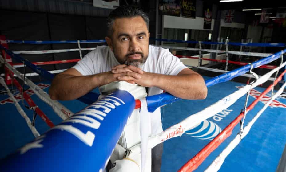 Manny Robles in his LA gym.