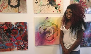 christina madison with paintings