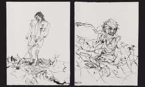 Georg Baselitz's untitled pen and ink drawings