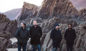 'Guy Garvey, second left, and Elbow.