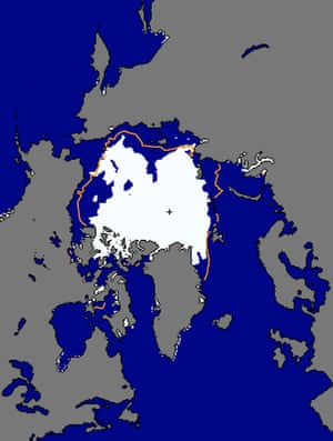 Arctic sea ice extent for 14 August 2016