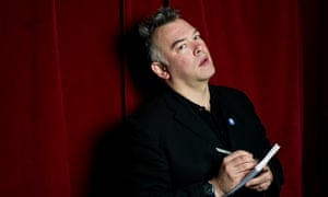 'Learning in public': Stewart Lee makes notes before a standup gig.