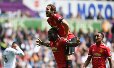 Manchester United rout Swansea City as Romelu Lukaku sparks late burst