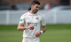 Anderson tried to prove his fitness playing for Lancashire.