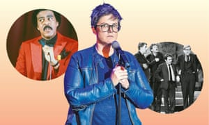 Get up, standup … (from left) Richard Pryor, Hannah Gadsby, Beyond the Fringe.