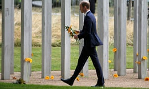 Prince William, pictured at the Hyde Park memorial to victims of the 7 July 2005 London bombings, has spoken about ending the stigma surrounding mental illness.