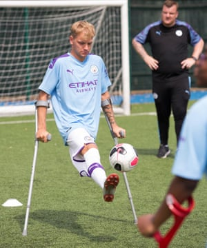 Jamie Tregaskiss lost a leg to bone cancer aged 13 and is now an England amputee international.