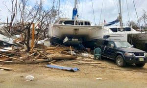 'After Hurricane Irma, many Caribbean tax havens found themselves struggling to cope.' Damage in the British Virgin Islands.