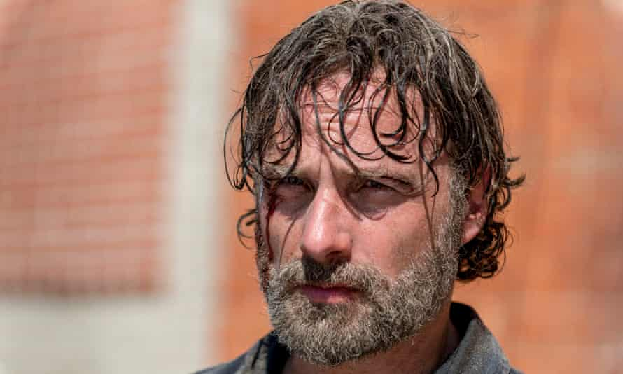 Andrew Lincoln as Rick Grimes.