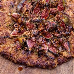 Tom Hunt fig, radicchio, blue cheese and walnut galette