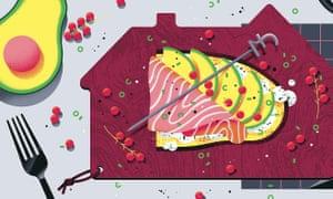 Illustration of avocado on toast