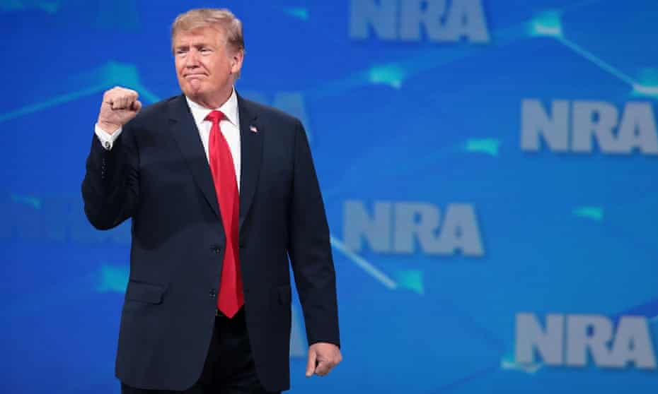 Donald Trump at the NRA annual meeting in Indianapolis, Indiana on 26 April.