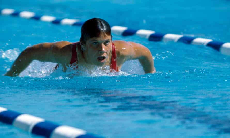 Elaine Tanner in action at the 1966 Commonwealth Games before pursuing Gold at the 1968 Olympics