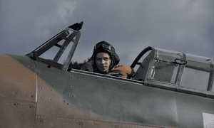 Ready for takeoff … Iwan Rheon as pilot Jan Zumbach in Hurricane