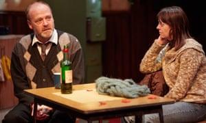 Simon Wolfe (John) and Siwan Morris (Mary) in Conor McPherson's Dublin Carol