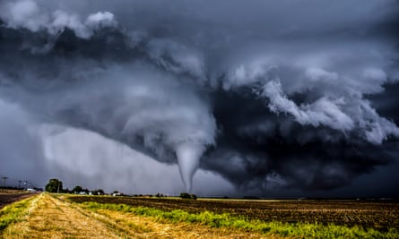 In the eye of the storm … a tornado in Kansas.