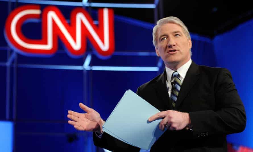 John King hosting a presidential TV debate