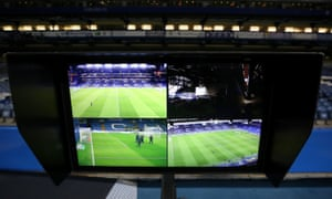 A general view of the VAR system, which will be introduced into the Premier League next season.