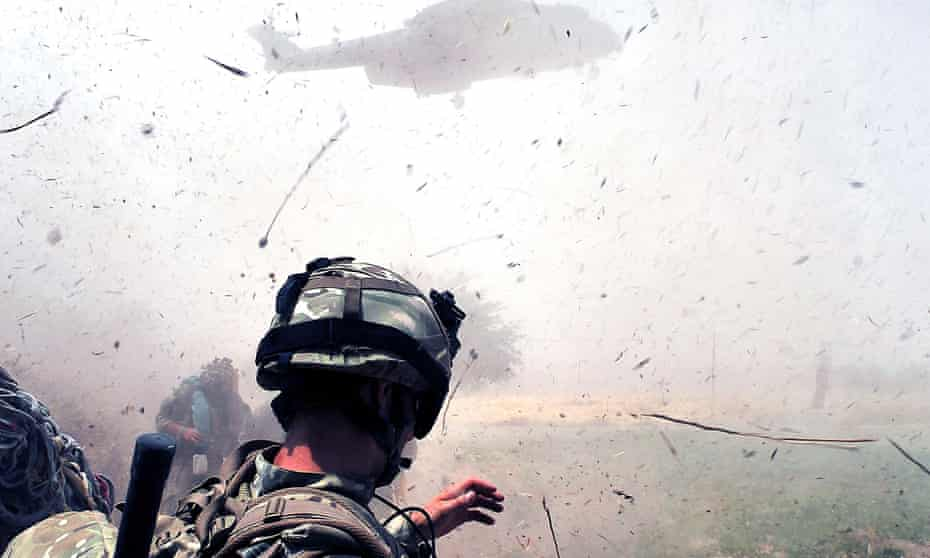 Royal Marines mount an assault in Helmand province, Afghanistan