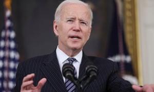 Joe Biden addresses an event on vaccinations.