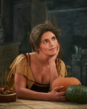 Olia Hercules as Cinderella for the Christmas edition of Observer Food Monthly