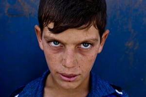 Mohammed, 10, who fled from Mosul
