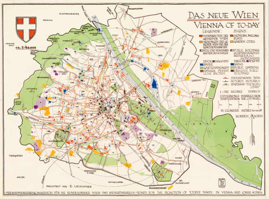 A map of Vienna's building programme, in which the garden was the foundation for self-sufficiency.